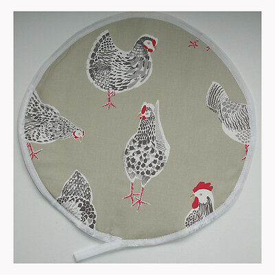 NEW Aga Range Hob Hat Lid Mat Cover with Loop Cook Chicken Chef Pad Hen Rooster