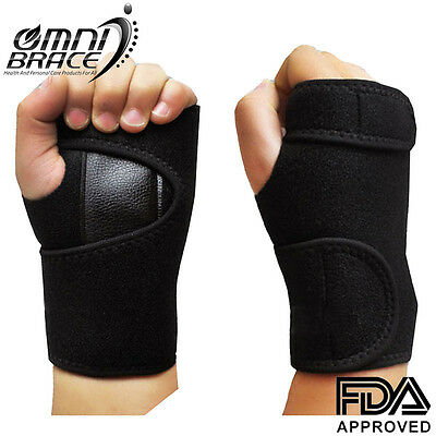 OmniBrace-Neoprene Wrist Support Brace-Carpal Tunnel Relief-Self Heating Fabric