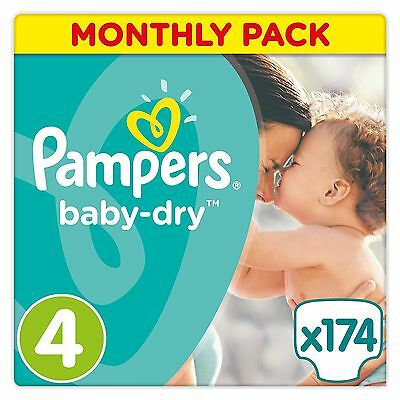 Pampers Baby-Dry Nappies Monthly Saving Pack - Size 4 Pack of 174
