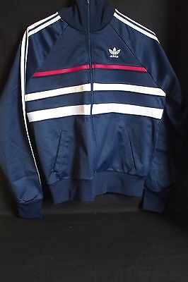 Belle Veste Vintage Adidas Marine Made In France