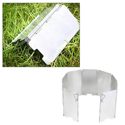 9 Plates Foldable Camping Cooker Gas Stove Wind Shield Screen Foldable Outdoor