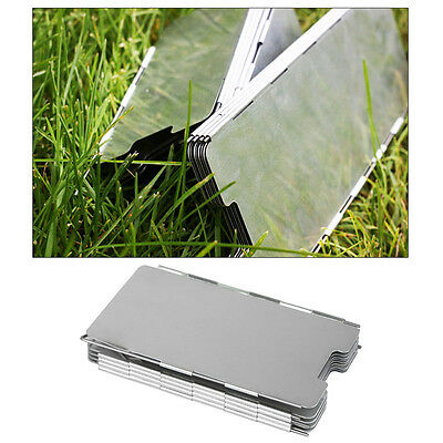 Outdoor 9 Plates Fold For Picnic Camping Cooking Stove Sliver Wind Shield Screen