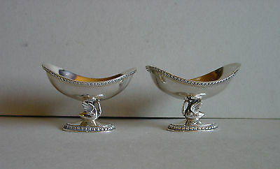 Pair of Spanish Jewelry Bowls Solid Silver Pedro Duran Spain