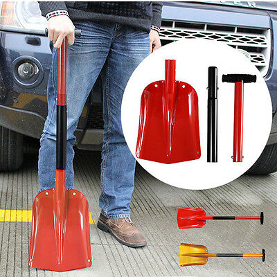 Portable Foldable Aluminum Alloy Sport Utility Car Snow Shovel with Iron Handle
