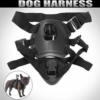 Dog Harness Black Fetch Pet Mount Kit For GoPro Hero 1 2 3 3+ & 4 5 Go Pro
