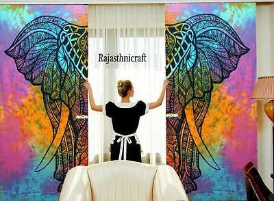Indian Elephant Tulle Voile Window Curtains Solid Drape Sheer Door Room Valances