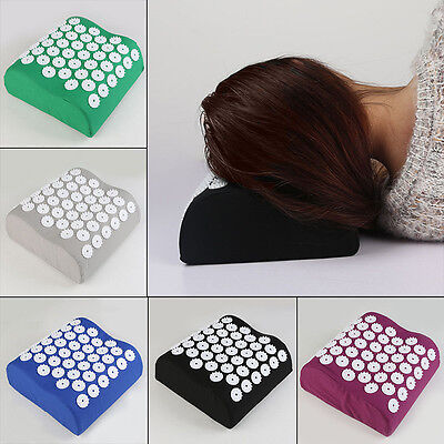 Acupuncture Massage Pillow Yoga Acupressure Relieves Stress Neck Pain Tension UK