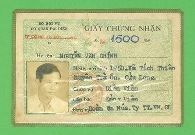 Viet Nam 1976_ The Certificate from Ministry of Home Affairs . Viet Nam  war.