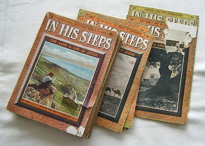 """""""in His Steps: The Land & Life Of Jesus"""" - Incomplete 1939 Religious Partwork"""