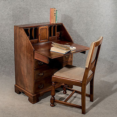 Antique Writing Desk Bureau Chest English Georgian Mahogany Quality c1800