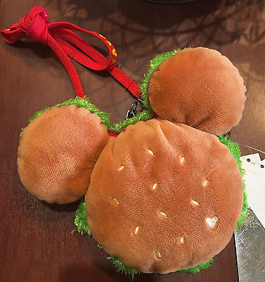 Tokyo Disney Mickey mouse shape Burger coin purse Shoulder Pass case Japan new
