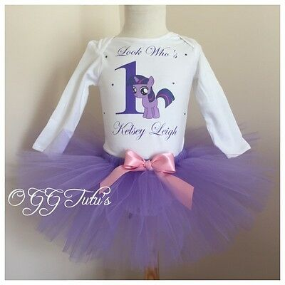 1st Birthday Baby girl Princess tutu outfit Personalised Any Name My Little Pony