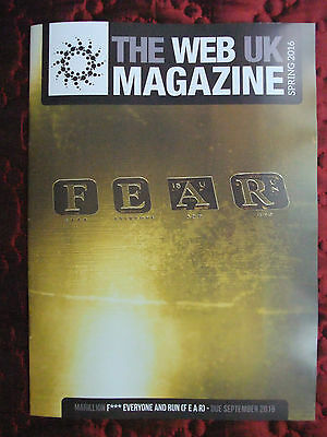 LATEST Marillion The Web UK Magazine FEAR Spring 201 Fan Club Issue Only ~ Mint