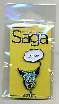 SAGA LYING CAT Pin Set 2016 SDCC NYCC Exclusive SOLD OUT Fiona Staples Rare HTF