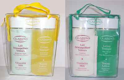 COFFRET CLARINS LAIT DEMAQUILLANT+LOTION TONIQUE 2X200ml, Cleansing milk+lotion