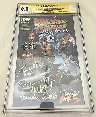 BACK TO THE FUTURE #1 CAMPBELL VARIANT CGC SIGNATURE 9.8 MICHAEL J FOX Lloyd HTF