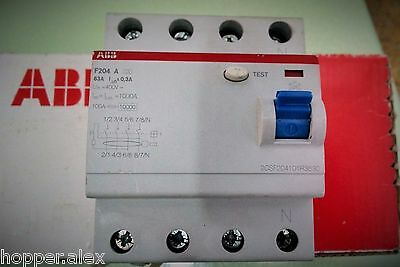 ABB 63 A 300 mA RCCB RCD F204A 2CSF204101R3630. NEW! LOW COST!