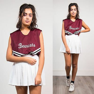 Womens Vintage Bearcats Cheerleader Top Costume Usa Authentic High School 16 18