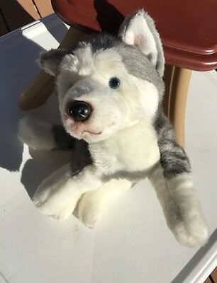 Husky Dog Plush Yomiko Classics Blue Eyes Gray White Russ Berrie Stuffed Wolf