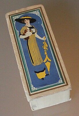 "Rare Cole Phillips ""Fade Away Girl"" Candy Box, Lady Holding Spaniel & Umbrella"
