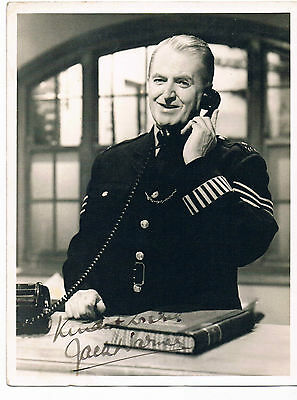 Jack Warner Film & Tv Actor Dixon of Dock Green  Hand Signed Photo 9 x 7