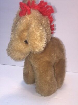 "Eden Wind-Up Musical Plush Stuffed Pony Horse ""Old McDonald"" Head Moves Vintage"