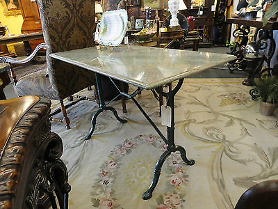 French Style Pastry Table - Iron with Marble Top