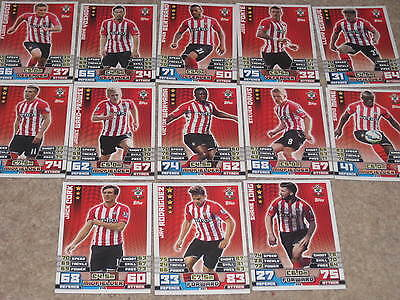 MATCH ATTAX 14/15 football trading cards 13x base card starter set SOUTHAMPTON