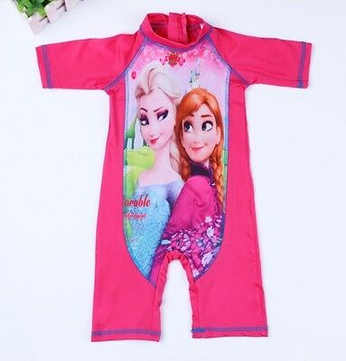 Disney Frozen Swimming Costume All in One.Swim Suit.Age 1-2 Years.Fast UK