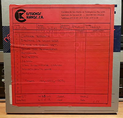 "MASTER TAPE reel 2 track 15ips 1/4"" from Estudios Kirios (Spain) - ESTELA NUÑEZ"