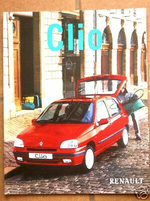 "- RENAULT Documentation "" CATALOGUE CLIO 24 Pages "" 12 / 1997"