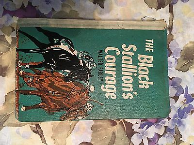 """Horse Books """" The Black Stallion's Courage"""" By Walter Farley"""