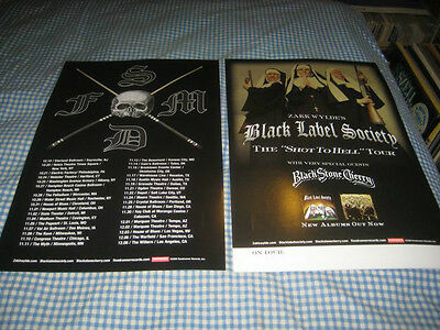 BLACK LABEL SOCIETY-(the shot to hell tour)-1 POSTER-2 SIDED-11X17-NMINT-RARE
