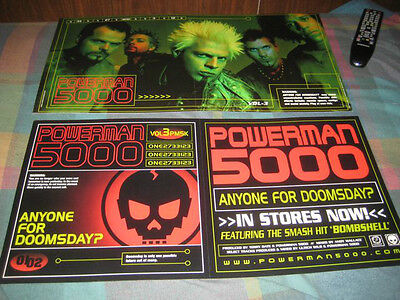 POWERMAN 5000-(anyone for doomsday?)-1 POSTER-2 SIDED-12X24-NMINT-RARE