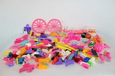 Doll Barbie Parts Pieces Lot Pets Food Shoes Brushes Basketball Helmet Basket