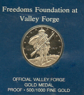 Freedoms Valley Forge gold medal