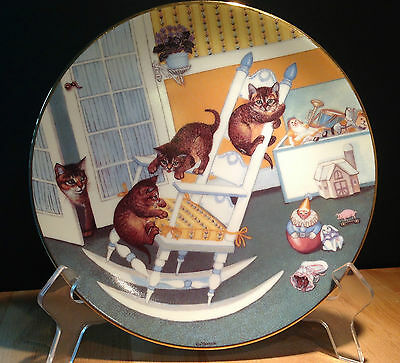 'Country Kitties' by Gre' Gerardi Hamilton Cat Plate Collection 1988 ~ Set of 6