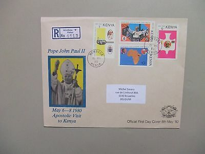 Pope Paul II registered fdc Kenya