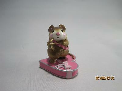 Wee Forest Folk M-094 Cupid Mouse Pink - Valentine's Day - Retired in Wff Box