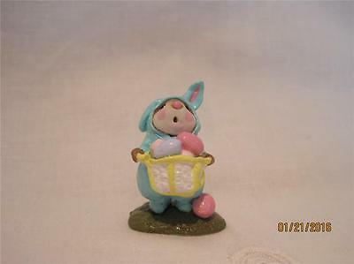 Wee Forest Folk Easter Bunny Mouse Aqua - Retired - Color made 1 Year - WFF Box