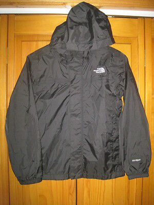 The North Face Hyvent waterproof rain jacket boys  M 10/12 black hiking camping