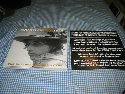 BOB DYLAN-(live-1975-rolling thunder revue)-1 POSTER FLAT-2 SIDED-12X12-NMINT