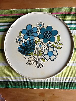 1970's Vintage Floral Tray