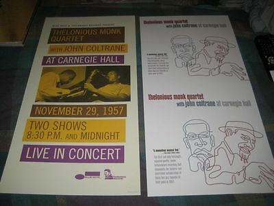 THELONIOUS MONK QUARTET-(with john coltrane)-1 POSTER-2 SIDED-12X24-NMINT-RARE