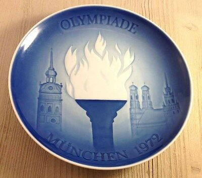 "1972 ""Olympic Games in Munich"" Plate (Excellent Condition) B&G Bing & Grondahl."