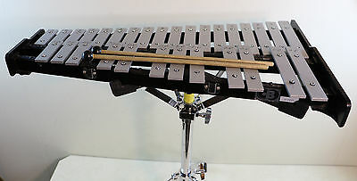 CB 30 Key Xylophone Glockenspiel with Adjustable Stand Mallets and Roller Case