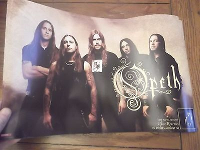 OPETH  2005 GHOST REVERIES PROMO POSTER 11x17 2-sided.