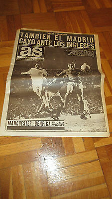 1968 Real Madrid v Manchester United EUROPEAN CUP SEMIFINAL very rare