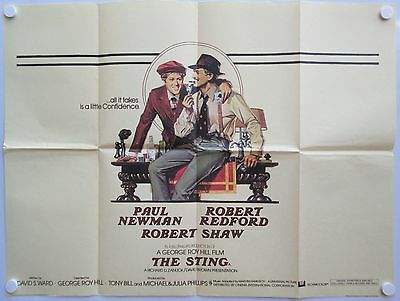 The Sting Vintage 1973 Original Release UK Quad Poster Newman and Redford