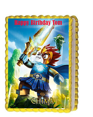 Lego Chima Birthday Party Icing Edible Cake Topper 1/4 sheet